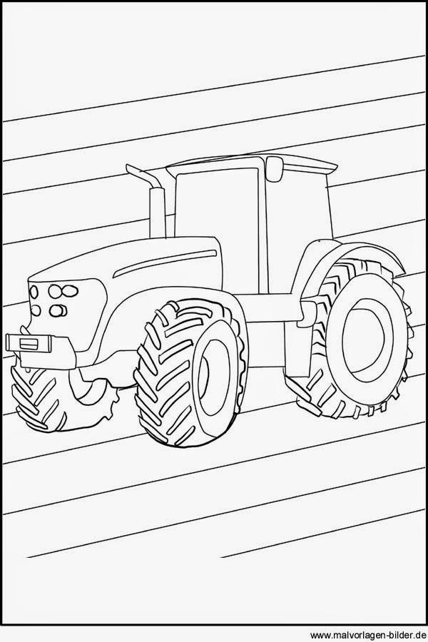 malvorlagen traktor