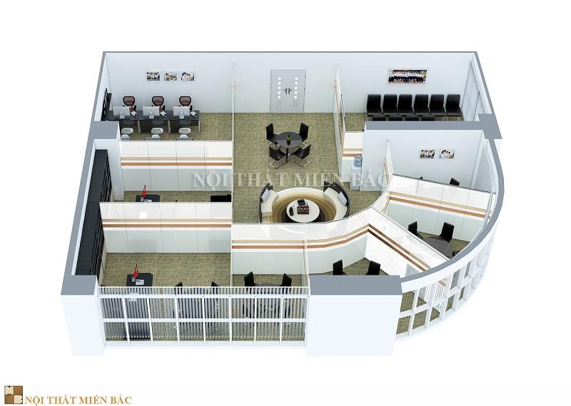 Thiết kế trọn gói nội thất văn phòng không gian hài hòa