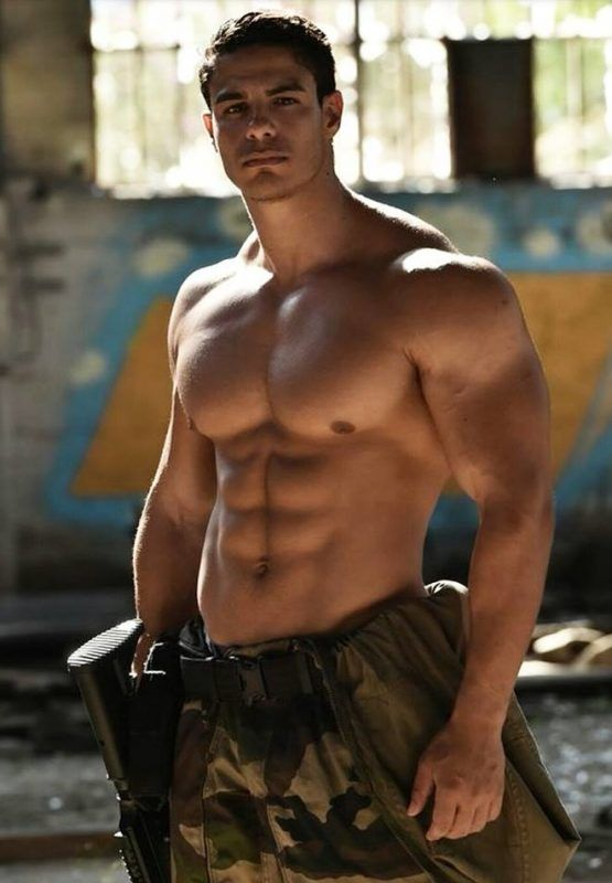 beautiful-shirtless-buff-male-soldier