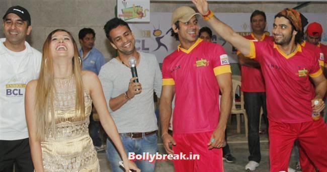 Karan Mehra, Krystle D'Souza, Mandira Bedi at BCL Inaugural Match