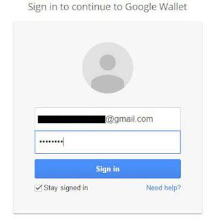 Cara membuat google wallet - sign in