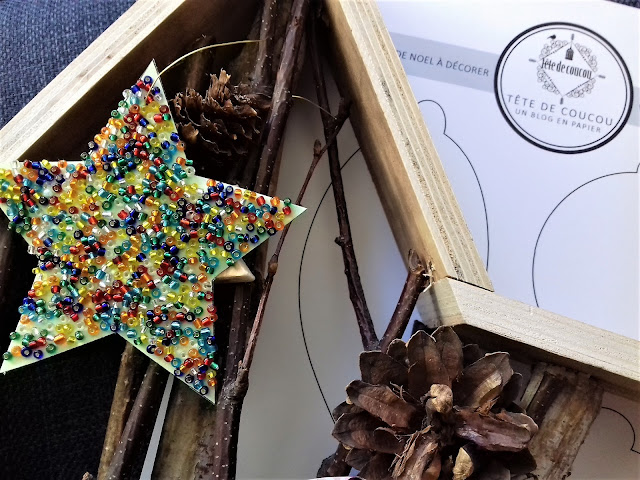 Atelier créatif enfant téléchargement gratuit à imprimer décoration de boules de Noël Tête de Coucou