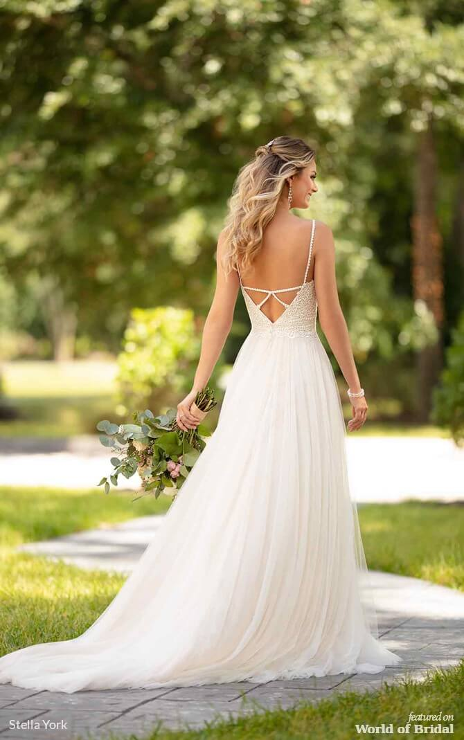 d6b79dd126a8 Stella York Spring 2019 Casual Wedding Dress with Back Detail Exquisitely  boho ...