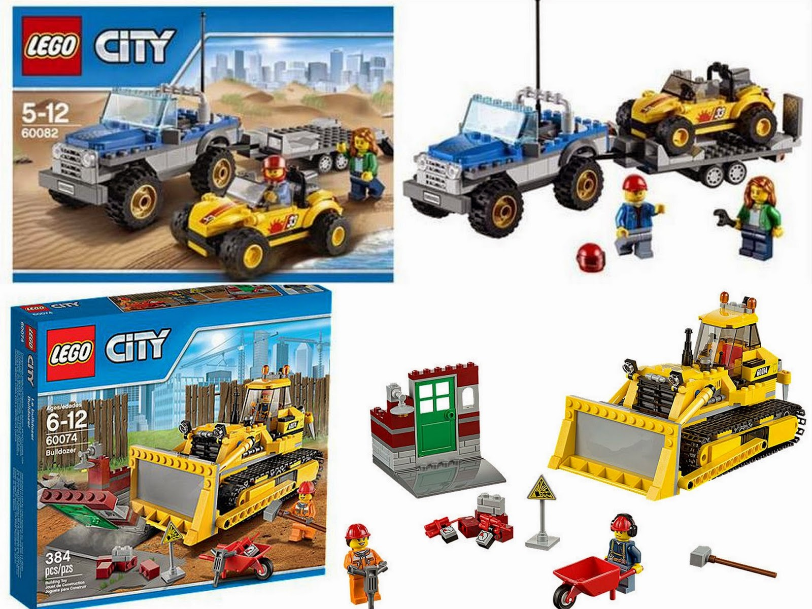 LEGO City women builder and female mechanic