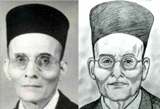 PENCIL DRAWING - Vinayak Damodar Savarkar