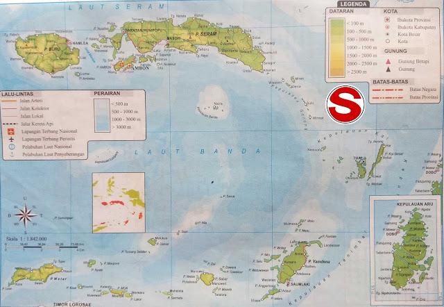Gambar Peta Atlas Provinsi Maluku