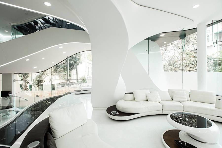 Ciri Ciri Desain Futuristik Gaya Desain Interior Masa Depangedung Arsitektur Ciri Ciri Desain Futuristik Gaya Desain Interior Masa Depan