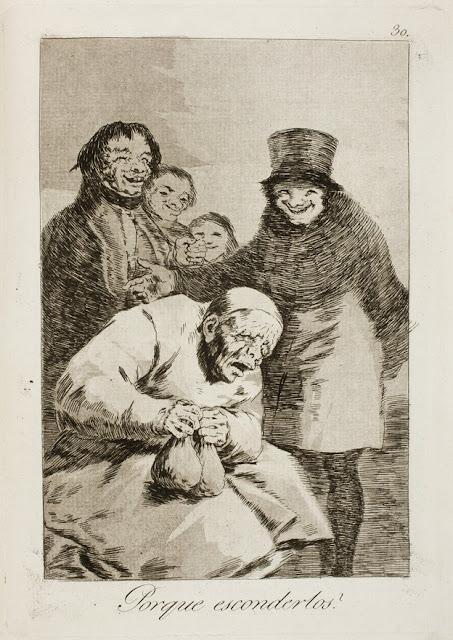 Από τα χαρακτικά του Γκόγια με τίτλο Τα Καπρίτσια - ¿Por qué esconderlos? / Γιατί να τα Κρύβεις; / Why hide them?