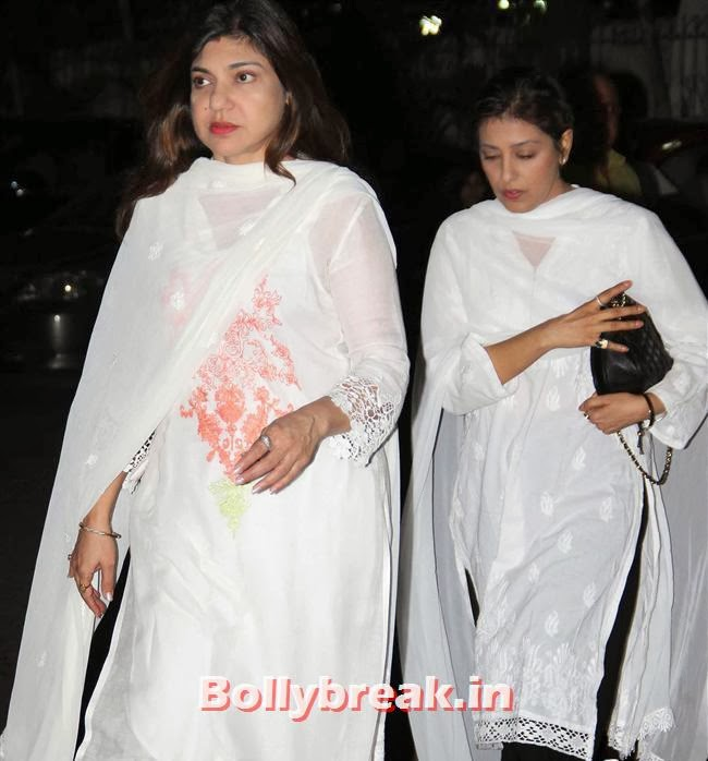 Alka Yagnik, Celebs at Farooq Sheikh Prayer Meet
