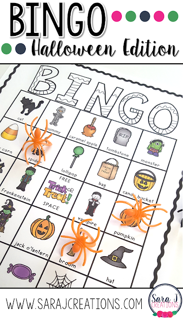 Printable Halloween bingo is so easy to print and play in the classroom with your students in October or at your Halloween party. 30 different cards in color and black and white make it so easy to prep.