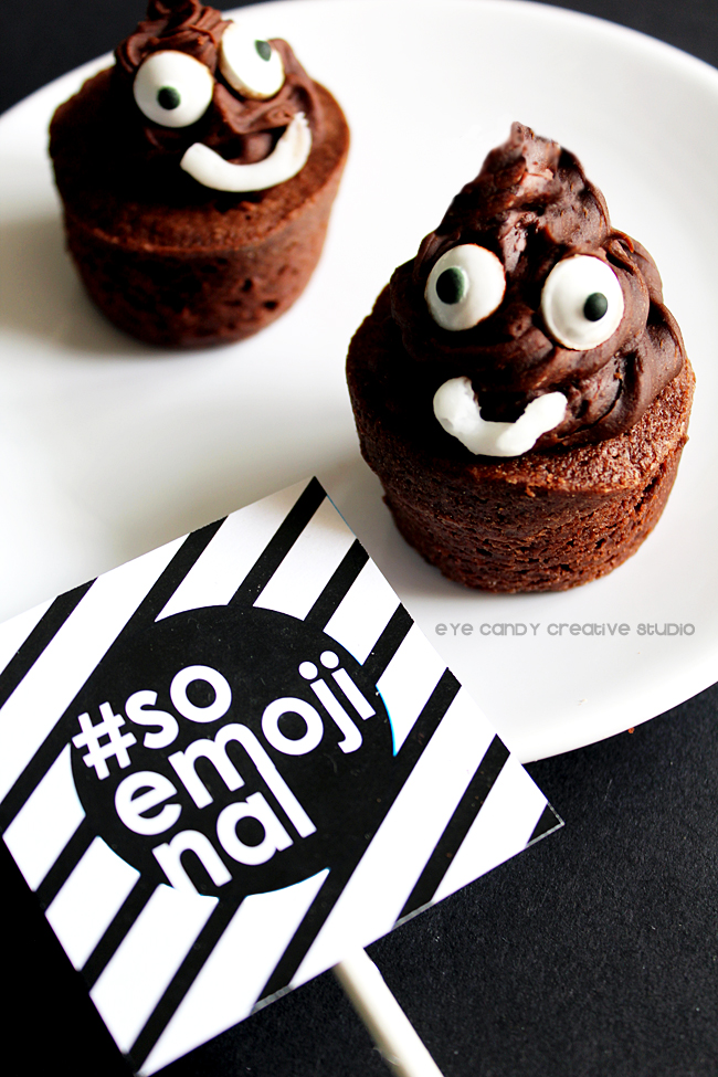 emoji party dessert, poo emoji, emoji party, soemojinal, emoji birthday