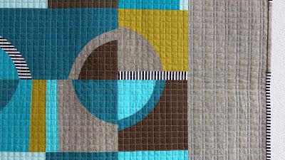 Luna Lovequilts - Improv curves quilt - Detail