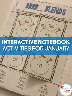 Winter interactive notebook activities plus a few FREEBIES- blog post highlighting hands-on activities for kids
