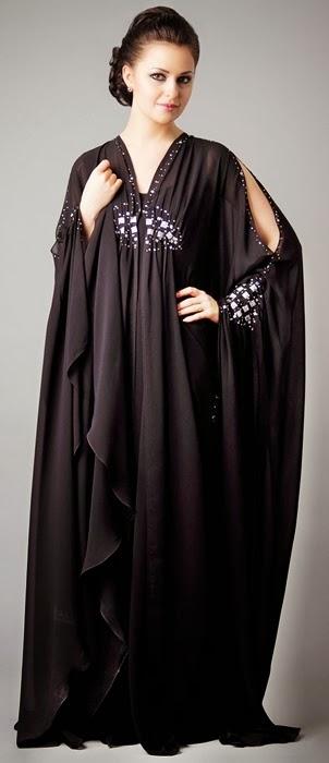 Fancy Abaya From Uae Dubai Abaya Designs For 2014 15