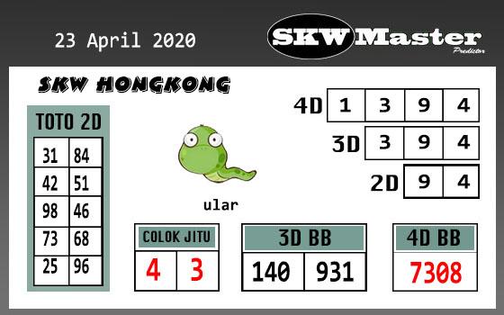 Prediksi HK Kamis, 23 April 2020 - skw master hk