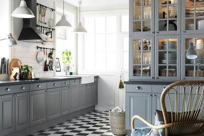 ikea kitchen lidingo in gray. Black Bedroom Furniture Sets. Home Design Ideas