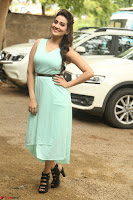 Manjusha in beautiful thin green gown At Jaya Janaki Nayaka le Logo Launch ~  Exclusive 134.JPG