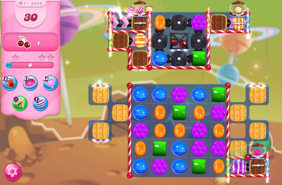 Candy Crush Saga level 5412