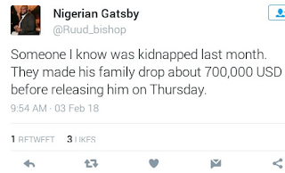 Kidnappers are getting bolder. A Family in Lagos actually paid $700k ransom which is about N255m to get their son released?