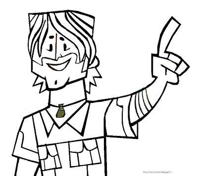 Pin total drama coloring pages island pictures on pinterest for Total drama action coloring pages