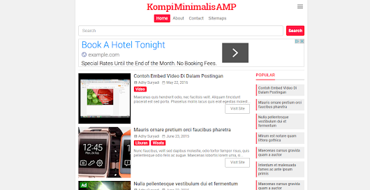 AMP Blogger Template - Google+