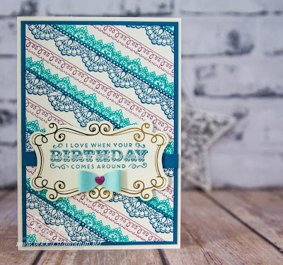 Beautiful Birthday Card made using supplies from Stampin' Up! UK - buy them here
