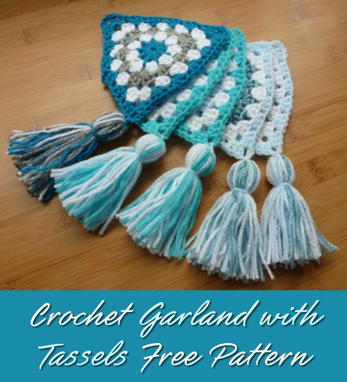 Fun Crochet Tassel Garland Tutorial Makes Ideal Party Decor for Birthdays Christmas Special Occasions Free Pattern