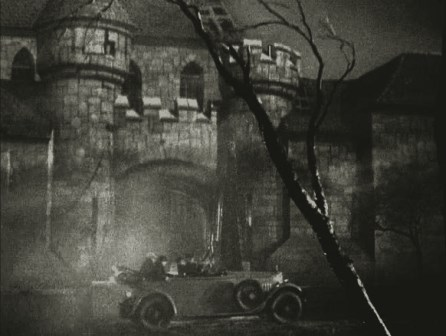 Exterior from Dracula's Daughter (1936), matte painting