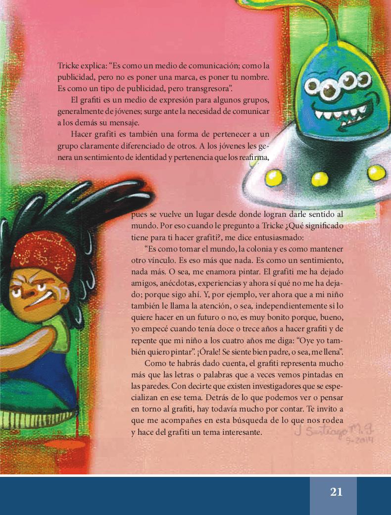Grafiti: jóvenes pintando el mundo - Español Lecturas 6to