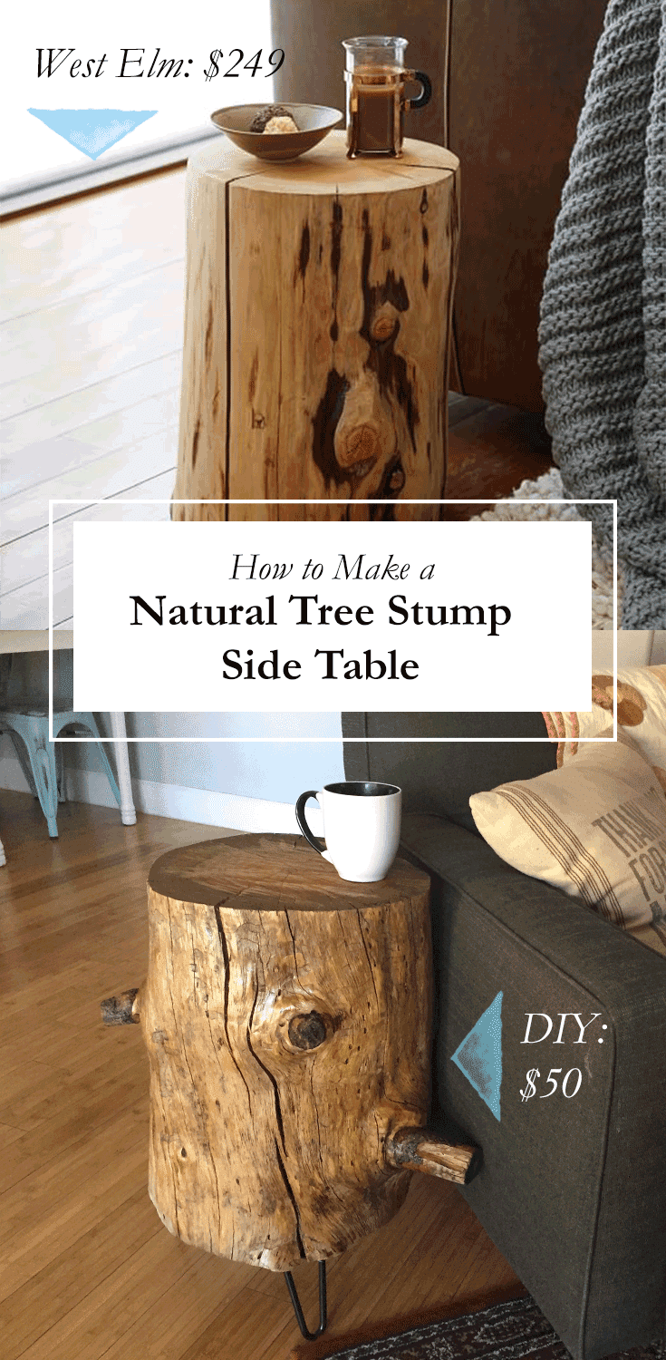 scribbles from emily diy how to make a tree stump stool for 50 or less. Black Bedroom Furniture Sets. Home Design Ideas