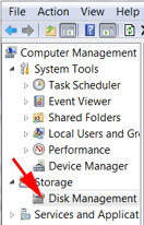 format other drive disk management