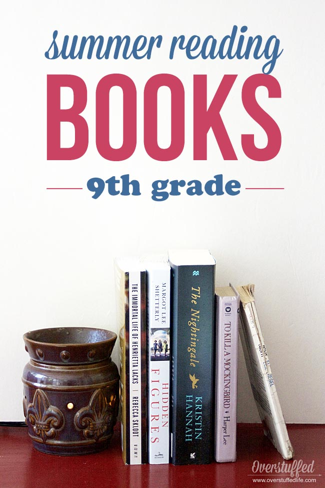 BOOKS for 9th grade SUMMER READING. If your 9th grader is an avid reader and loves books, this list is for you!
