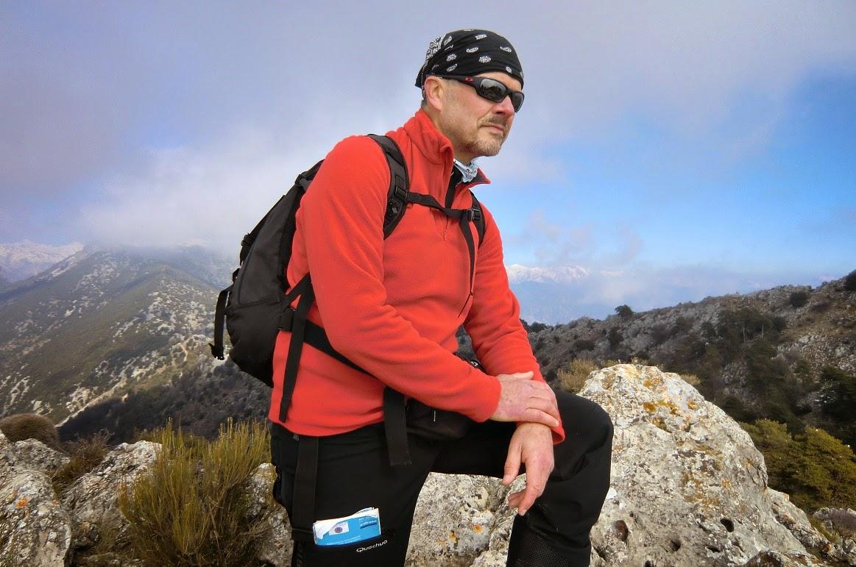 On the summit of Roc d'Orméa