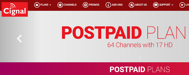 List of Cignal TV Postpaid Plans to Subscribe