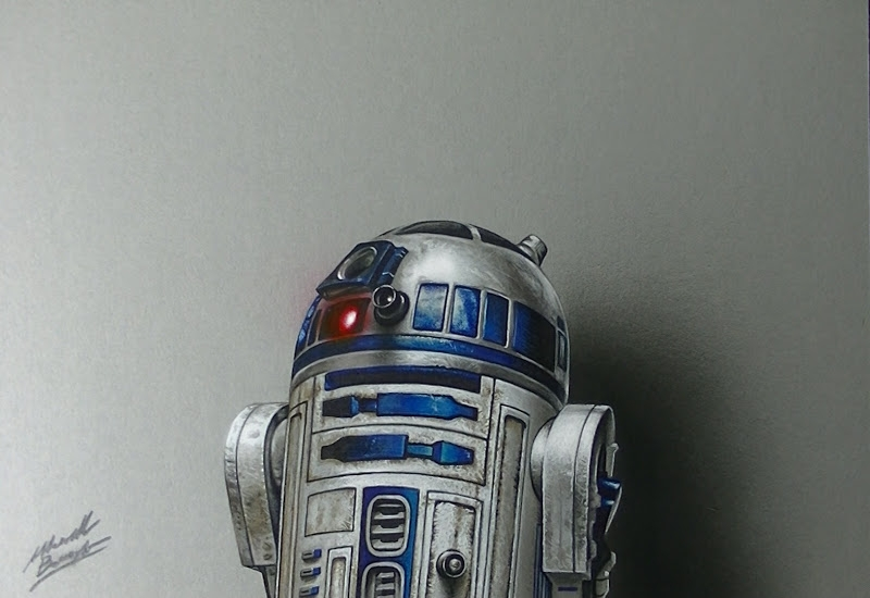 07-R2-D2-Marcello-Barenghi-Realistic-Movie-Character-Drawings-www-designstack-co