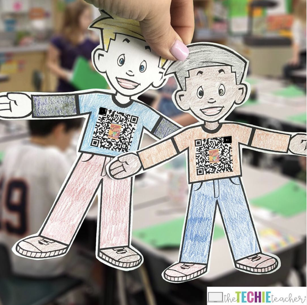 Flat Stanley 2.0: Attach a QR Code that scans to a Wakelet collection. Users can upload pictures and videos to your class' Wakelet collection and students can check in on Flat Stanley's adventures each day.