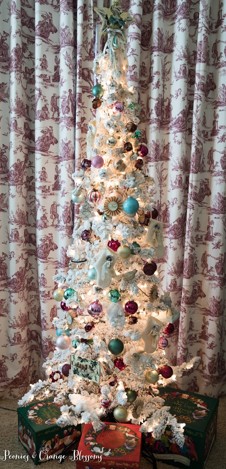 Vintage French Country Christmas Tree | Pastel Christmas Tree