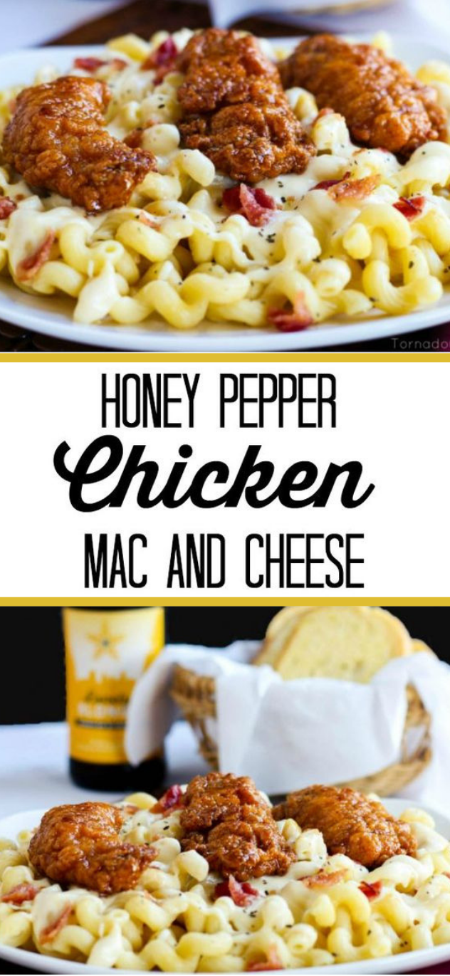 HONEY PEPPER CHICKEN MAC AND CHEESE #dinner #honeypepper
