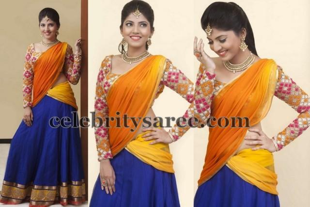 Anaswara Designer Half Saree