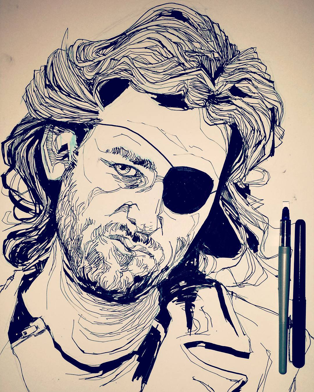 Escape From New York Kurt Russell Drawing