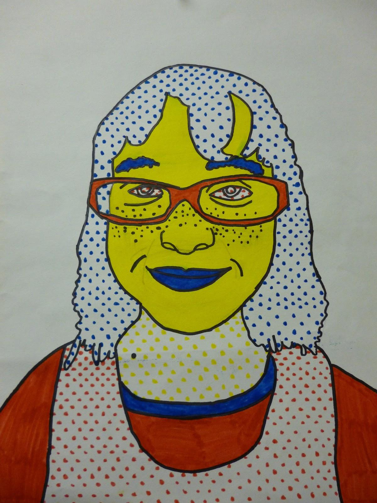 5th Grade Lichtenstein Portraits