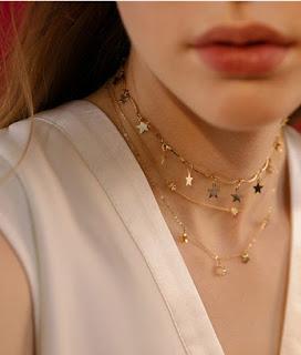 collier etoile bijoux fantaisie