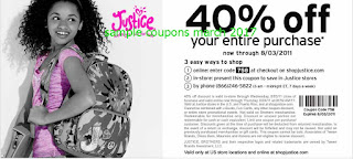 Justice For Girls coupons for march 2017