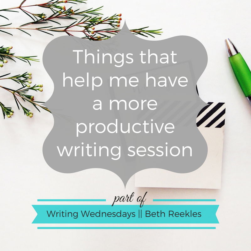 There are several different things that help me focus on having a productive writing session. What helps you?