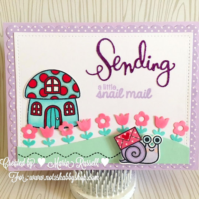 Sunny Studio Stamps: A Backyard Bugs Snail Mail Card by ML Russell.