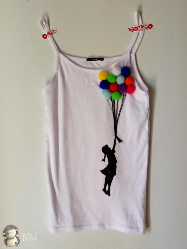 camiseta chica con globos