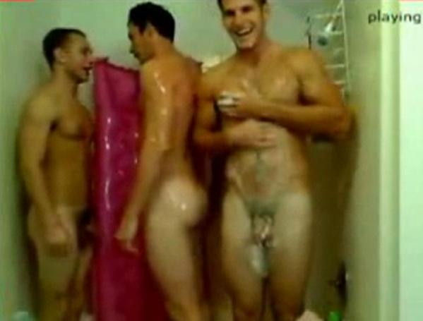 nude hunks in shower