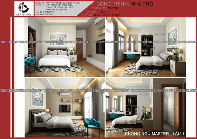 Mẫu thiết kế đẹp 2 tầng bán cổ điển mặt tiền 5m tại Long An Phong-ngu-master