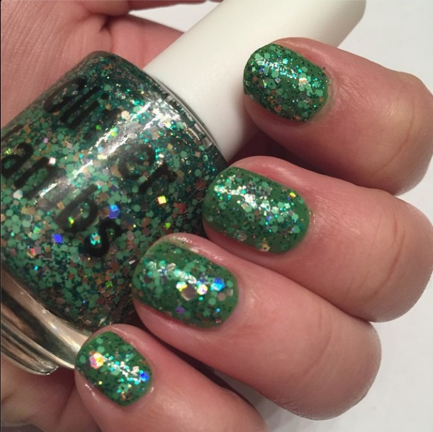 Christmas handmade custom indie nail lacquer for the holiday season. Glitter topper nail polish for your nails!