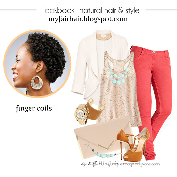 Lookbook: Finger Coils And Casual Dress Outfit